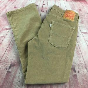 💸Men's Levi's 514 tan corduroy pant in size 32